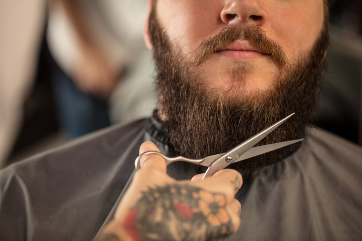 How to trim your mustache with scissors